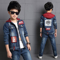 High Quality Spring Fashion Style Children Baby Boys Sets Autumn Long Sleeve Tops Jeans Pants 2Pcs Boys Clothes Kids Clothes