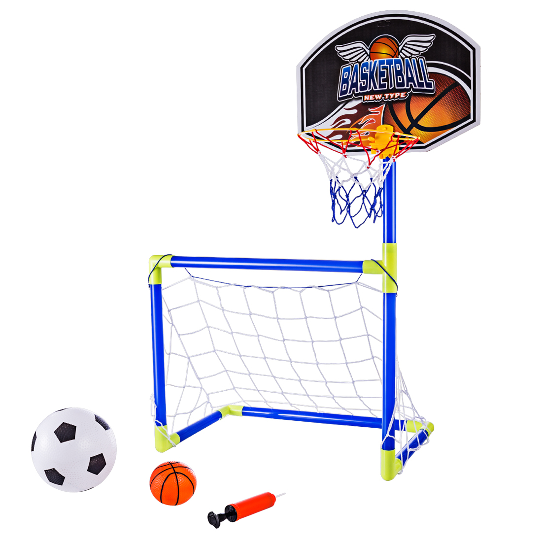 Kids Interest Toy Ball Hanging Basketball Hoop+Ball Set Child Indoor Sports Toys