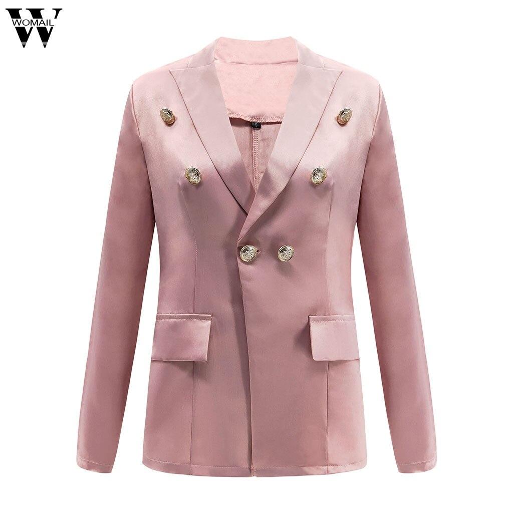 Womail Autumn Elegant blazer mujer 2020 plus size Long Sleeve Blazer Open Front Short Cardigan Suit Jacket Work Office Coat