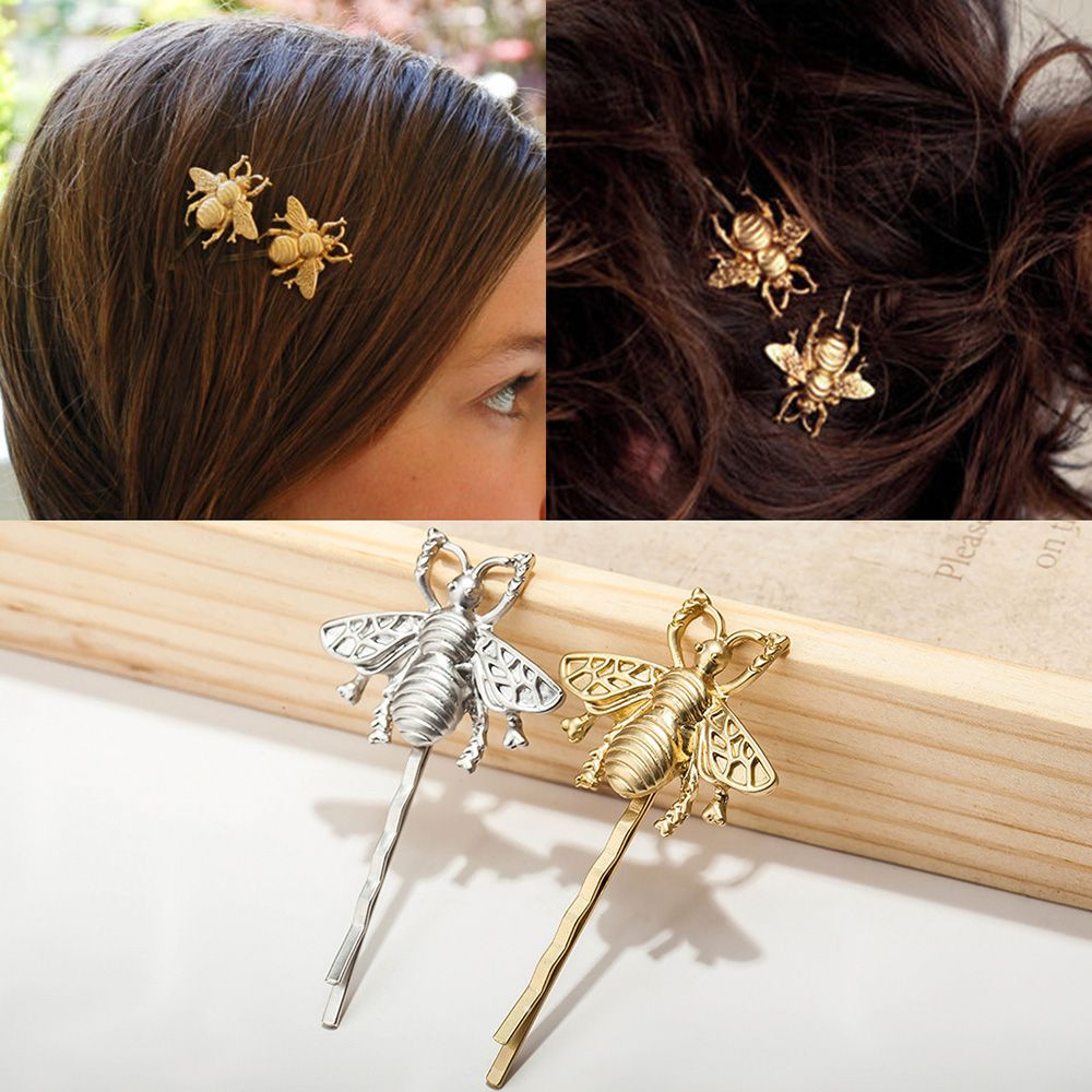 New Nnique Bee Hairpin Gold And Silver Side Clip Hair Accessories Female Attractive Hair Accessories Cute And Energetic