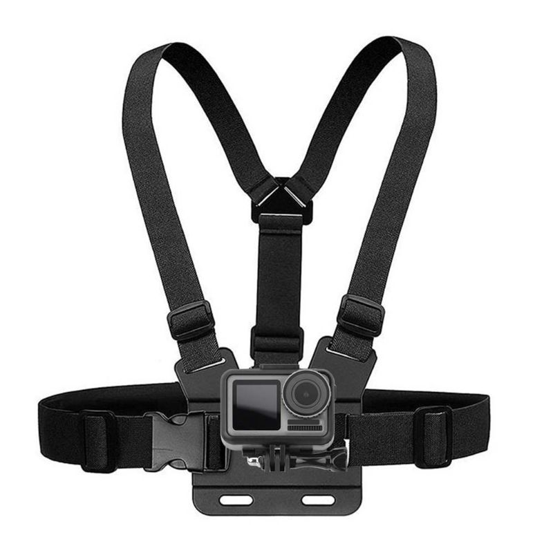 Premium New Black Anti Slip Adjustable Chest Strap Band Adapter Mount Belt For DJI Osmo Action Sports Camera Accessories