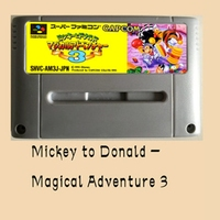 Mickey to Donald Magical Adventure 3-Japanese version 16 bit Big Gray Game Card