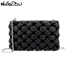 NIGEDU Crossbody bags for women Clutch Bag diamond designer Female messenger Bag Chain Ladies Clutches Purse bolsa feminina bao weichen new designer women shoulder bag purse leather women messenger bags female clutch crossbody bag for ladies bolsa feminina
