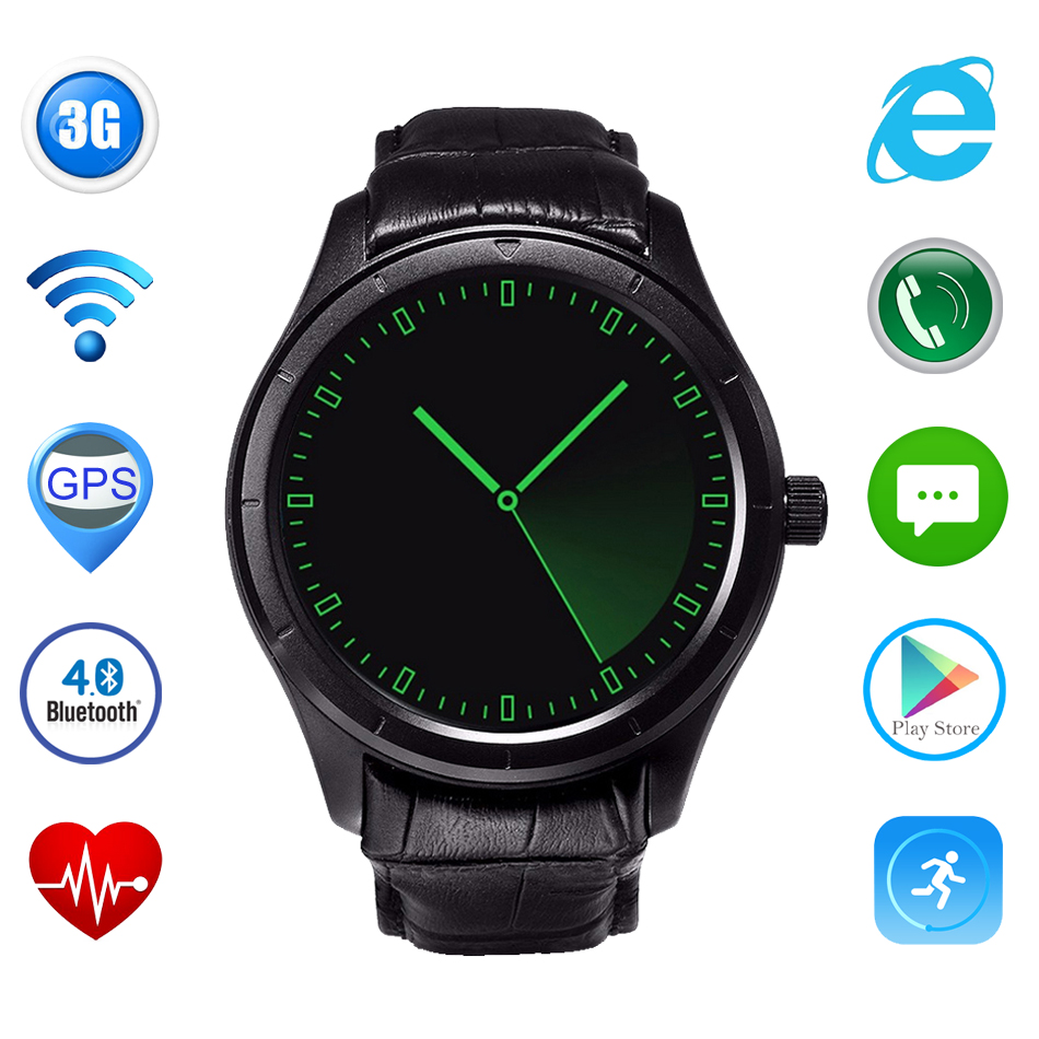 X5 Plus Androld 4 4 Dual Core Smart Watch 1 39 Inch AMOLED Heart Rate 3G