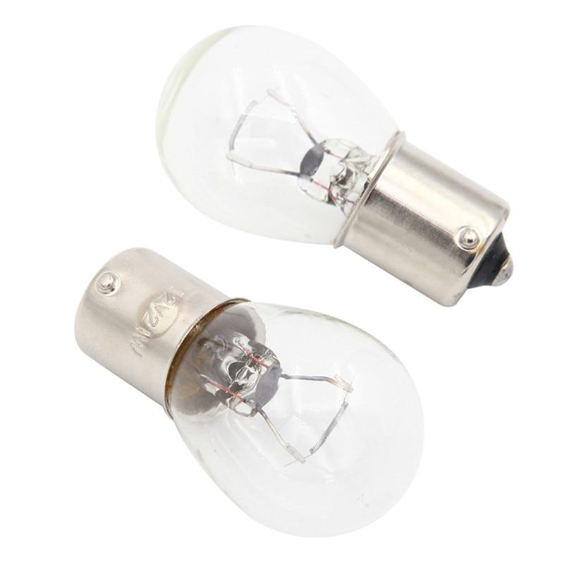 2 шт. 1156 BA15S стекло высокой мощности низкое потребление автомобильный стоп-светильник лампа торможения 21 Вт DC12V Белый/янтарный #289597