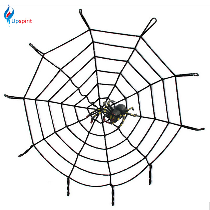 new creepy huge spider web halloween decoration party supplies gifts black white 15m cloth halloween