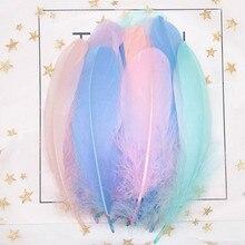 DIY гусиные перья 10-15 см Лебедь Шлейфы перья Промытые гусиный пух пушистые Шлейфы для свадьбы шляпа аксессуары для волос ремесло изготовление