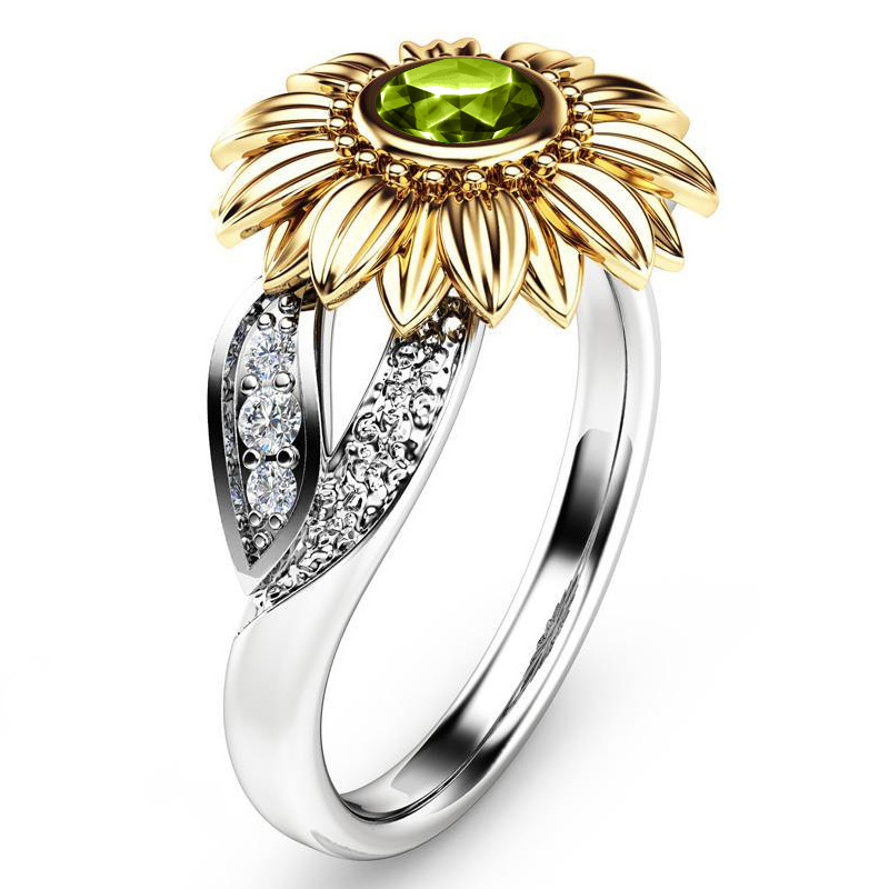 Crystal Sunflower Ring 3
