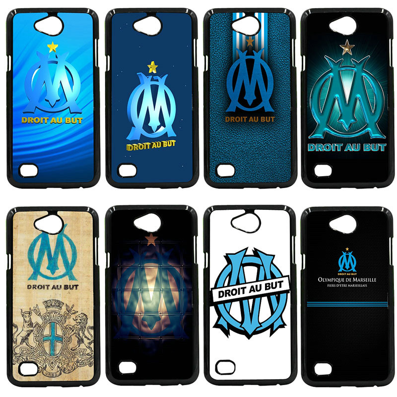 Olympique de Marseille FC Logo Phone Cases Hard PC Cover for LG L Prime G2 G4 G5 G6 G7 K ...