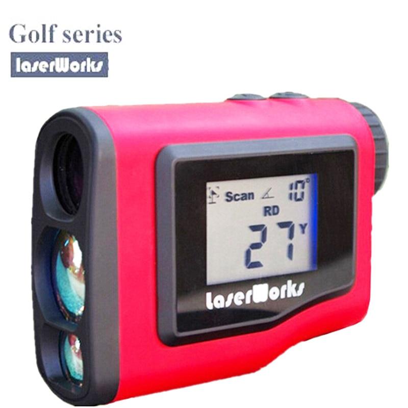LaserWorks Golf Rangefinder binoculars sports tools LCD display 600m 1000m Golf Slope Velocimetry Tester range finder