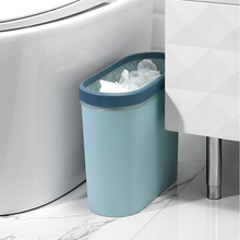 Creative Pressing Type Waste Bin Trash Zero Can Plastic Rectangular Bins for Car Kitchen Living Room Bathroom