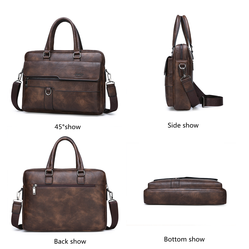 HTB1a4FUXRSD3KVjSZFqq6A4bpXae JEEP BULUO Brand Man Business Briefcase Bag Split Leather High Quality Men office Bags For 14 inch Laptop A4 File Causel Male