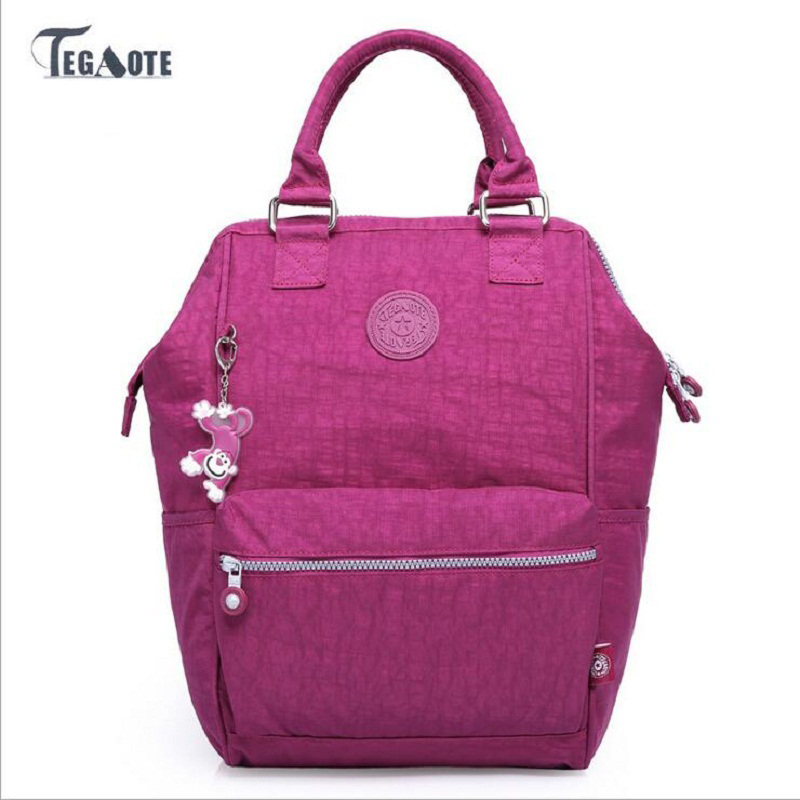 TEGAOTE Women School Backpack for Teenage Girl Mochila Feminina Travel Backpacks Nylon Waterproof Casual Laptop Bagpack Female tegaote nylon waterproof school backpack for girls feminina mochila mujer backpack female casual multifunction women laptop bag