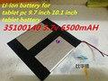 35100140 3.7 v 6500 mAH (batería de iones de litio polímero) batería Li-ion para la pc de 9.7 pulgadas 10.1 pulgadas batería de la tableta