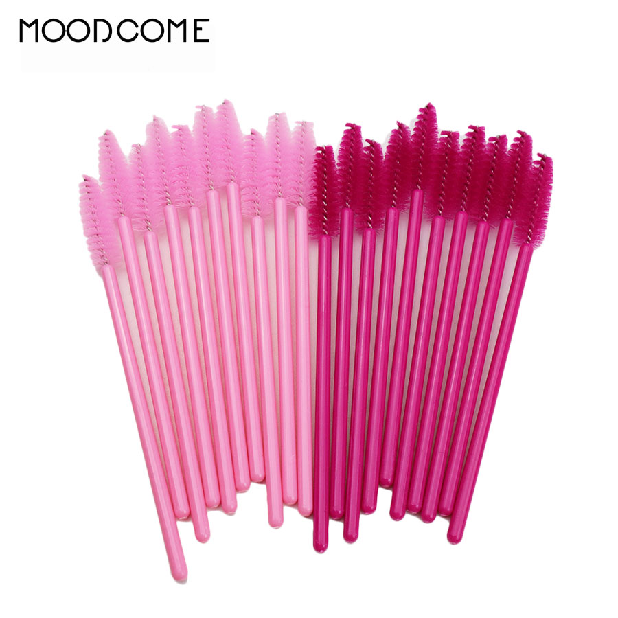 50pcs/lot Disposable Eyelash Brush False Eyelshes Tools Mascara Wands Applicator Spoolers Cosmetic Brushes Set Makeup Brush Tool