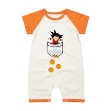 Одежда для новорожденных мальчиков веселый Летний комбинезон для младенцев с принтом Сон Гоку комбинезон с короткими рукавами костюм для малышей