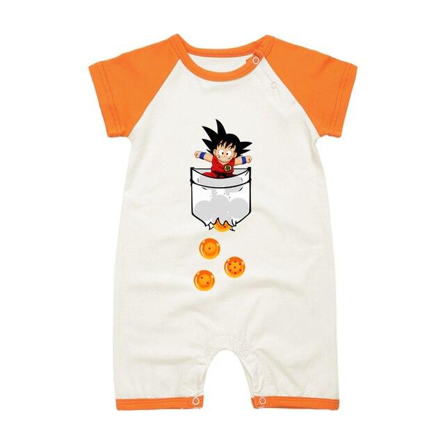 d7a71a3e10a2 Newborn Baby Boys Clothing SON GOKU Funny Printed Summer Romper ...