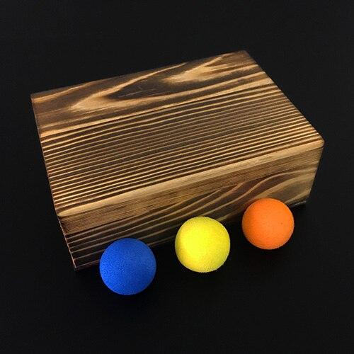 Boules dans la boîte (Deluxe) de Lu Chen, Gimmick, scène Illusions magiques accessoires magiques fête spectacle de magie, tours de magie créatifs jouets de magicien