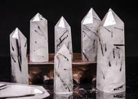 1kg Natural black tourmaline Crystal Point Wand Tower single point Crystal Obelisk Healing Crystal gemstone whloesale