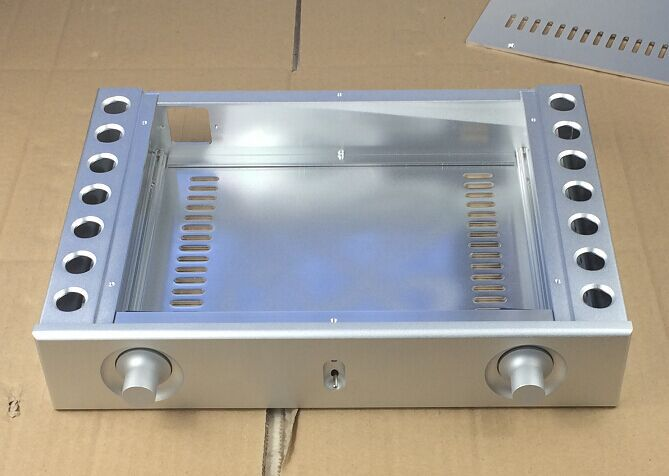 breeze audio new listed HI-END silver aluminum chassis for power amplifier BZ3206A aluminum enclosure/case breeze audio hifi cnc power amplifier aluminum chassis bz3608b