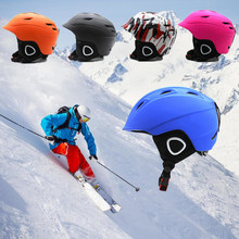 ef55184191e Seguridad moldeado integralmente de casco de esquí Snowboard casco  protector para hombres y mujeres de patinaje