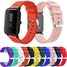 Silicone Soft Strap For Xiaomi Huami Amazfit Bip BIT Lite Youth Smart Watch Wrist Bracelet For Amazfit Bip Watchband 20mm Strap mijobs 20mm silicone wrist strap protective case cover plastic pc shell for huami xiaomi amazfit bip bit pace lite smart watch