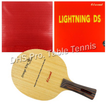 лучшая цена Pro Table Tennis Combo Paddle Racket 61second Strange King Shakehand with Lightning DS and Dawei 388D-1