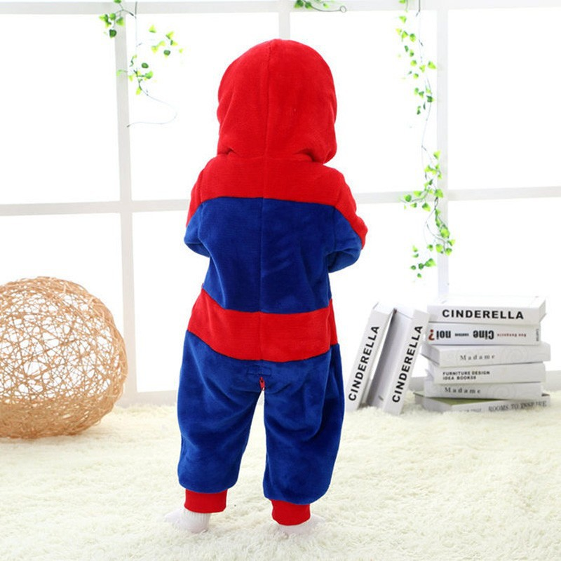 Spring and autumn baby boy clothes spiderman Captain America baby boy rompers Red Blue newborn clothes bodysuit one piece bebe (7)