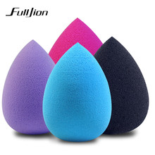 Fulljion Makeup Foundation Sponge Riasan Kosmetik Puff Bubuk Lembut Air Drop Bentuk Kecantikan Kosmetik Make Up Sponge Alat Kecantikan(China)