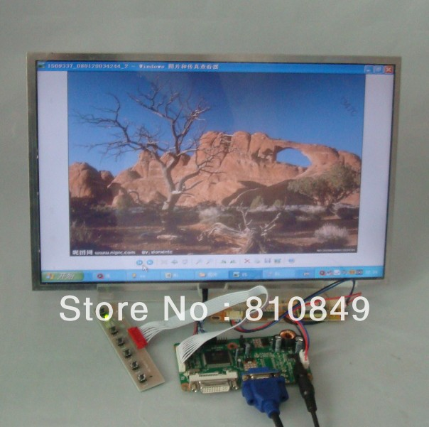 DVI+VGA Control board+14.1inch 1280*800 B141EW01 HT141WXB LP141WX3 Lcd panel 8 4 8 inch industrial control lcd monitor vga dvi interface metal shell open frame non touch screen 800 600 4 3