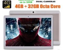 10 pulgadas MTK8752 Octa core Tablet PC 4G RAM 64 GB ROM Dual Tarjetas SIM 8.0 M Cámara 1920*1200 IPS Tablets 10 10.1 de DHL envío