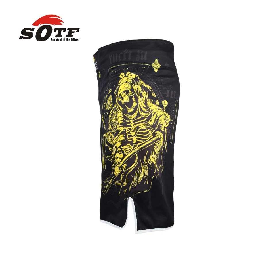 SOTF mma السراويل سراويل ملاكمة الملاكمة جذوع mma السراويل بروك ليسنار قصيرة سراويل مكافحة ماما pretorian الملاكمة التايلاندية pretorian