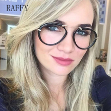 0c7e26cfaaec RAFFY Oval Full Eyewear Vintage Women Eyeglasses Glasses White Black Frames