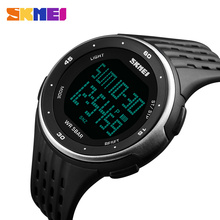 SKMEI 1219 Men Sport Digital Watch LED Display Outdoor Wristwatches Chronograph Calendar Backlight Alarm Relogio Masculino