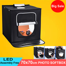 70x70cm Portable LED Photo Studio Softbox Shooting Light Tent Soft Box + AC Adapter for Phone Camera DSLR Jewelry Toys Shoot