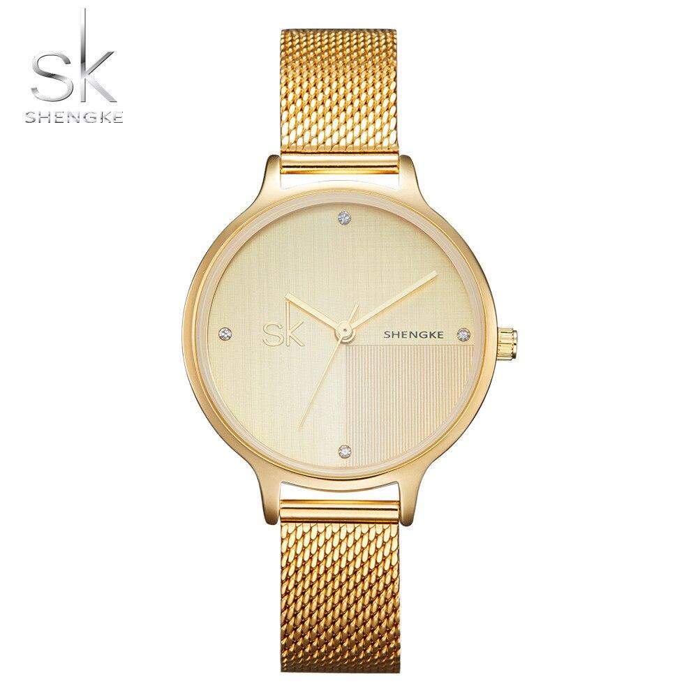 a114e46a6e53 Oro rosa de lujo relojes de mujer minimalismo cielo estrellado cielo imán  hebilla de moda Casual