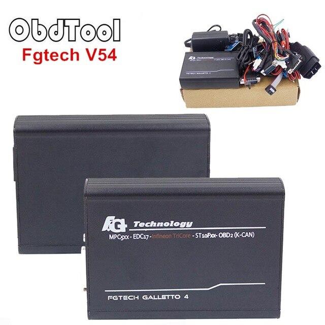 Cheap ObdTooL FGTech V54 Galletto 4 Master Support BDM Full Function Fg Tech V54 Auto ECU Chip Tuning BDM-TriCore-OBD Free Ship LR25