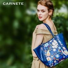 CARNETE Fashion Women Handbag PU Shoulder Bag Big Flowers Designer Luxury Bags 2019 new bolsa feminina