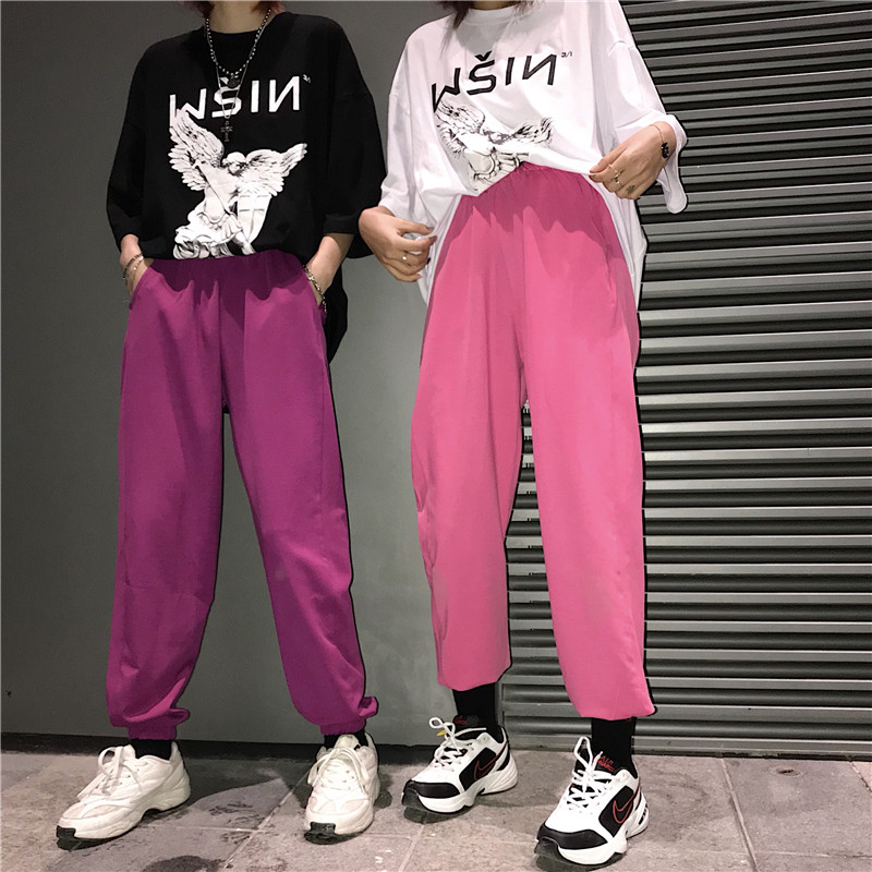 Harajuku Korean Women   Pants   Loose   Wide     Legs     Pants   New Fashion Sportswear Casual All-match Long Trousers Female