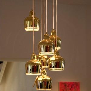 Image 4 - דנמרק נורדי Artek פינית אלוואר אלטו האדמירליות פעמון תליון אורות חדר שינה מתכת ברק LED מנורת חדר אוכל בר דה גופי