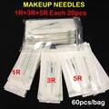 Mezcla Libre del envío Maquillaje Agujas Esterilizadas Agujas Permanentes Del Maquillaje Profesional