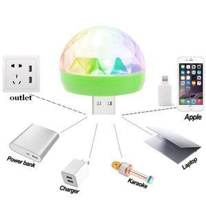 Aimkeeg RGB البسيطة USB LED حزب أضواء المحمولة الصوت التحكم ماجيك الكرة 3 W البسيطة الملونة DJ ماجيك ديسكو المرحلة أضواء للجوال