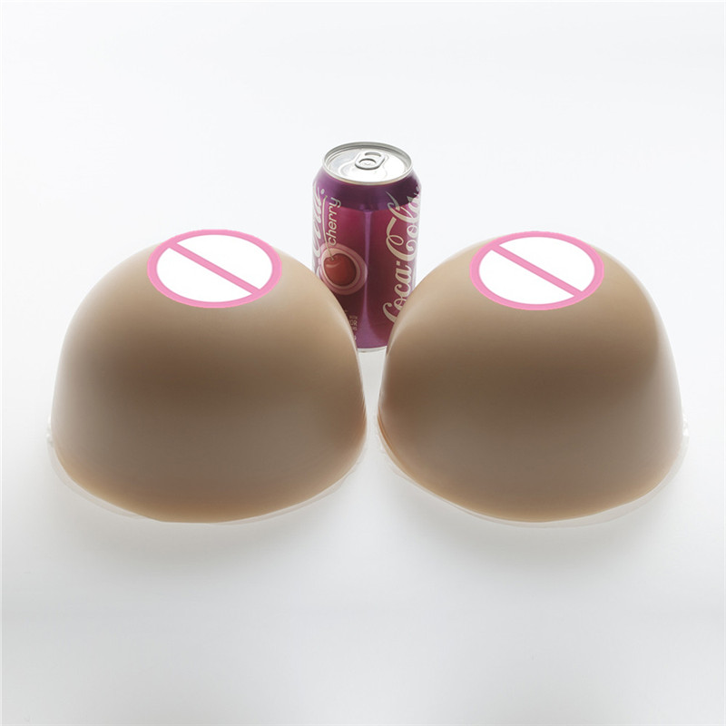 3600g/pair HH Cup Circular Brown Full Silicone Breast Forms Enhancer Cross Dresseing Shemale Fake Realistic Artificial Boobs цена 2017