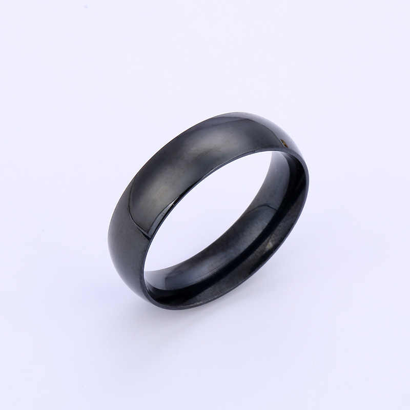 Anti-allergie Gladde Eenvoudige Bruiloft Koppels Ringen Voor Man Of Vrouw Rvs Zilveren Ringen Vrouwen Trouwringen Groothandel