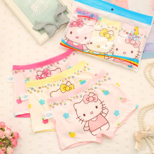4 pcs/lot Minnie Childrens cotton underwear female cartoon printed baby girls boxer briefs underpanties 3-11T
