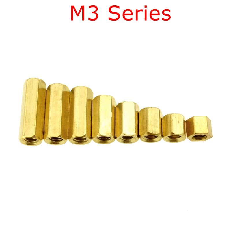 20 pcs <font><b>M3</b></font> Hex Screw <font><b>M3</b></font> Female Hexagonal Brass PCB <font><b>Standoffs</b></font> Spacers Screw <font><b>M3</b></font>*(4-<font><b>20mm</b></font>) image