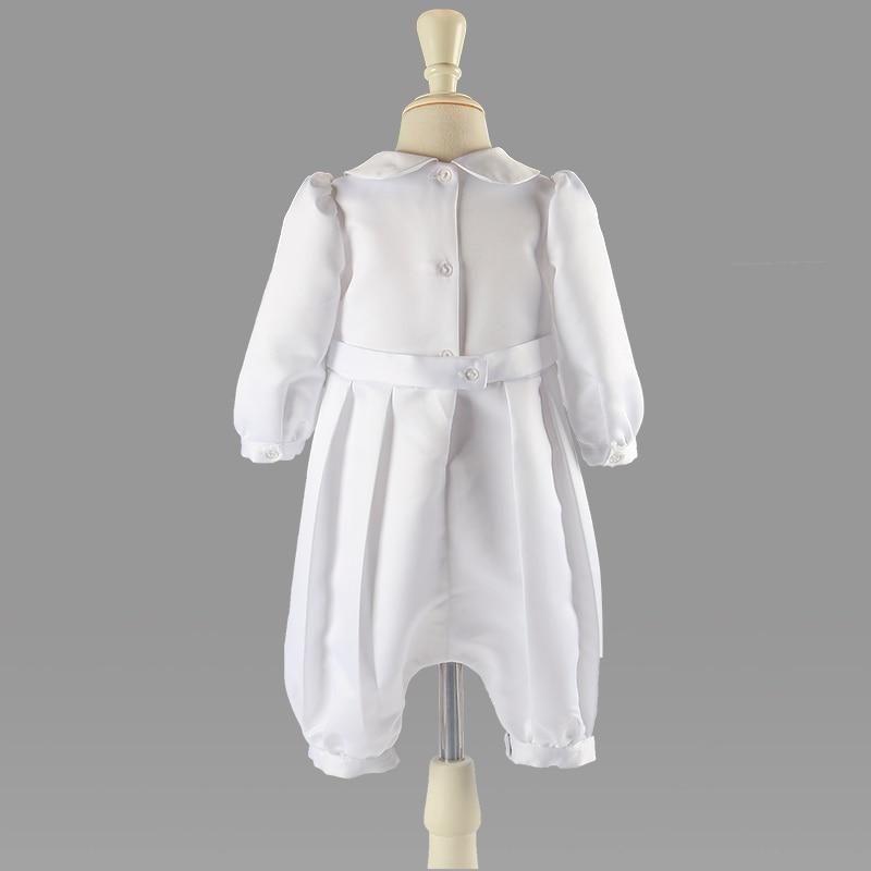 Kedves Fehér Baba Fiú Ruházat Szélesvásznú Szilárd Teljes - Bébi ruházat - Fénykép 2
