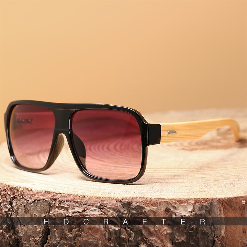 HDCRAFTER Bamboo Men Sunglasses 13