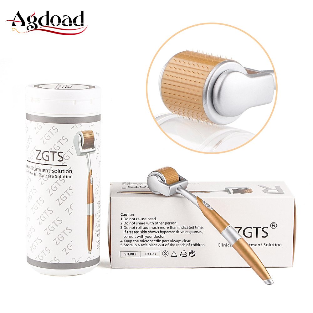 AGDOAD Dermasonic Professional ZGTS Titanium Derma Roller 192 Needles For Face Skin Care And Hair-loss Treatment Beauty Tool