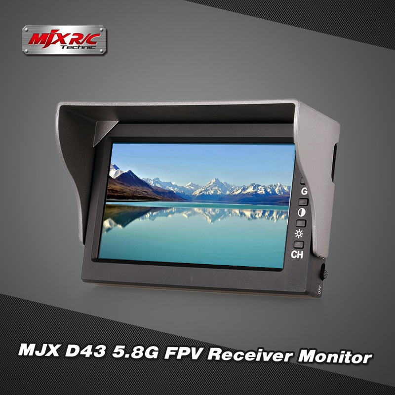 MJX D43 5.8G FPV Receiver Moniter 32CH 4.3 RX Display Screen for MJX Bugs6 B8 Racing Quadcopter D43 Drone Quadcopter